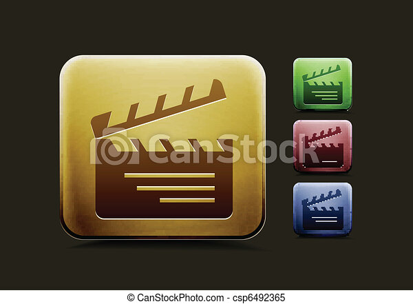 clapper boards  icon set - csp6492365