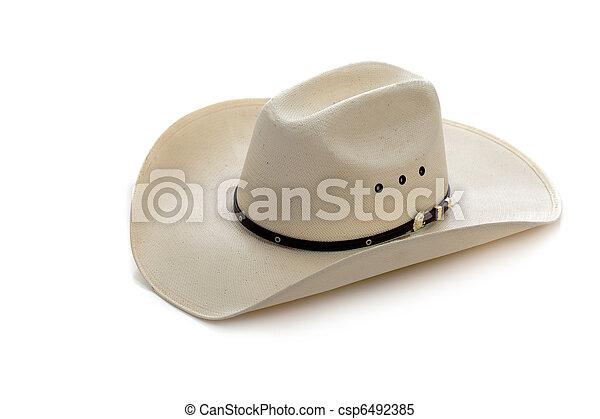 Cowboy hat on white  - csp6492385