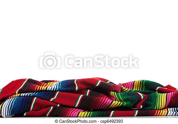 Serape on a white background with copy space - csp6492393