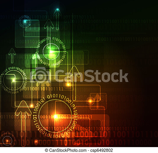 glowing abstract background - csp6492802