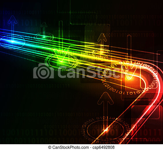 Abstract glowing background - csp6492808