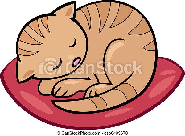 sleeping kitten - csp6493670