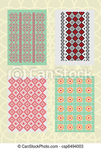 decorative patterns and standards - csp6494003