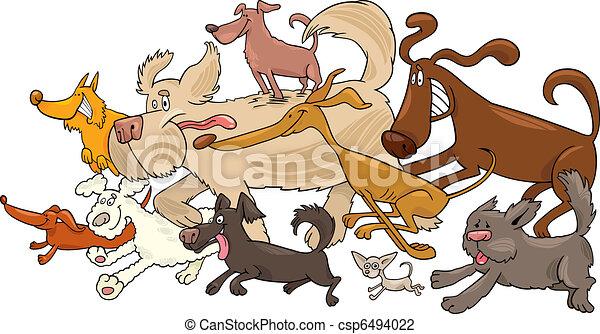 running dogs - csp6494022