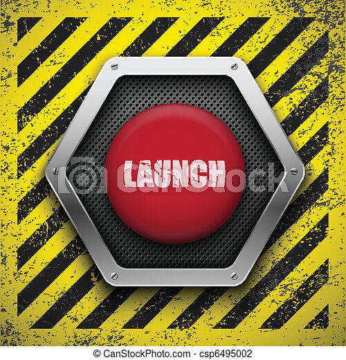 Launch button. Vector background. Eps10 - csp6495002