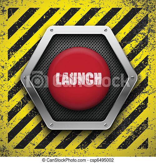 Launch button. Vector background. Eps10 - csp6495002