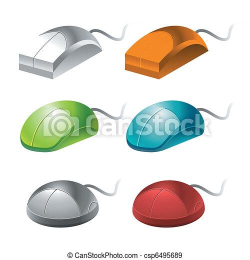 color computer mice - csp6495689