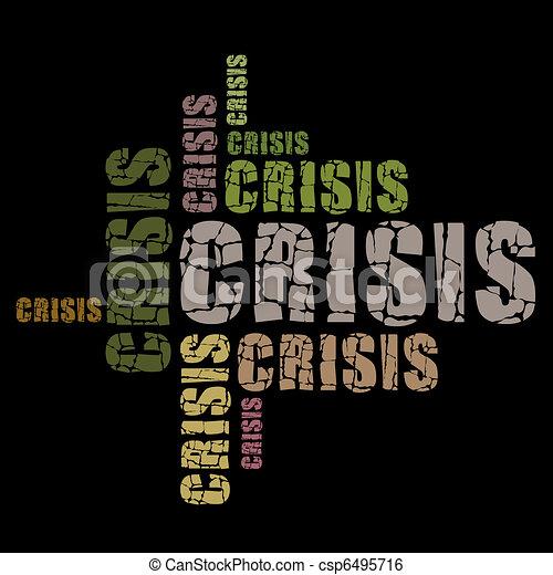 words crisis - csp6495716