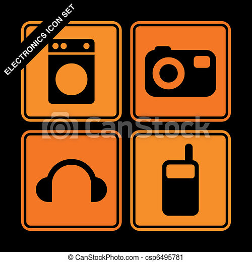 electronics icon set  - csp6495781