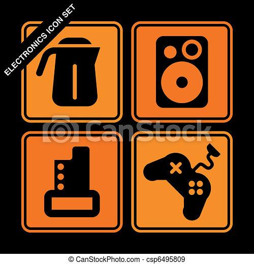 electronics icon set  - csp6495809
