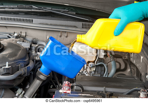 Changing automobile oil - csp6495961