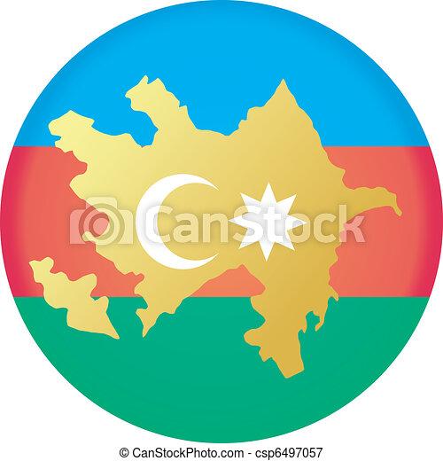Button Azerbaijan - csp6497057