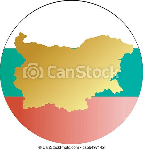 Button Bulgaria - csp6497142