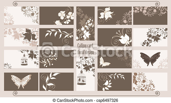 Calling cards set - csp6497326