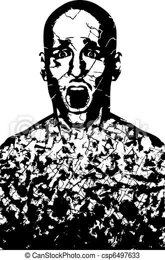 Corroded man - csp6497633