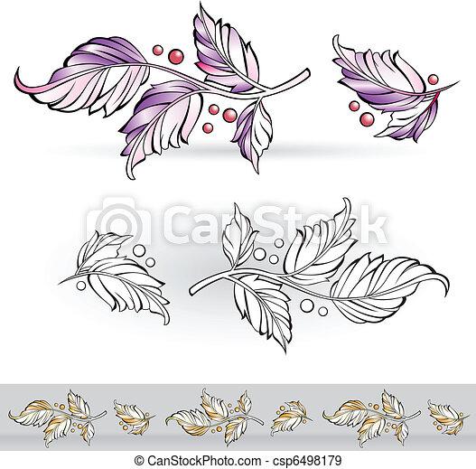 Flora design - csp6498179
