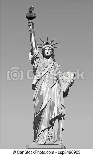 statue of liberty  - csp6498923