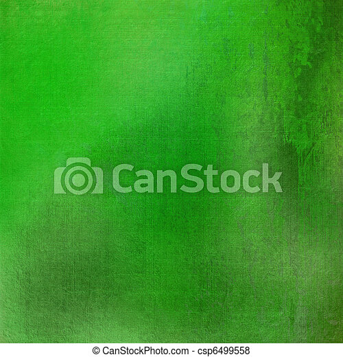 fresh green grunge stained textured background - csp6499558