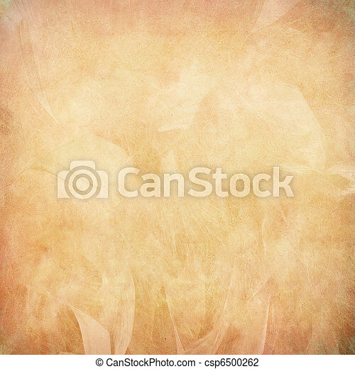 Peach feather abstract on paper - csp6500262