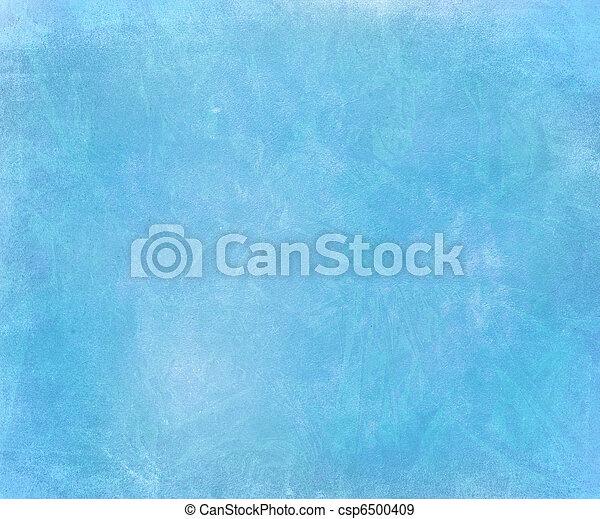 Blue sky chalk smudged handmade paper background  - csp6500409