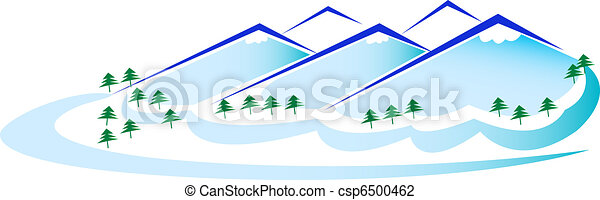 Mountains and Trees - csp6500462