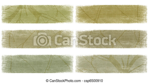 Branch on nautral earth tones banner set  - csp6500910