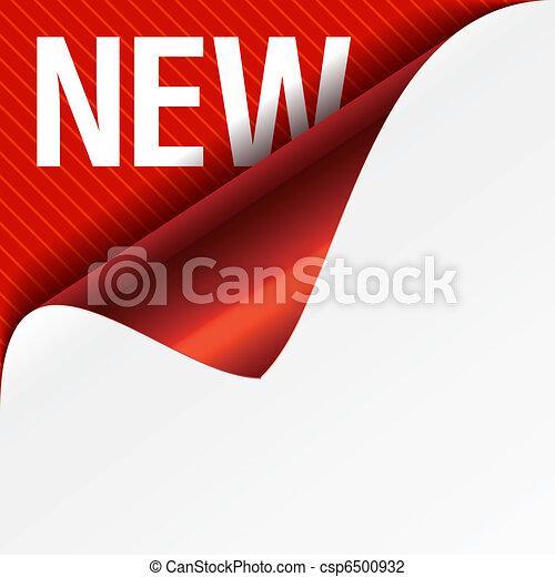 Sign New - curled corner - csp6500932