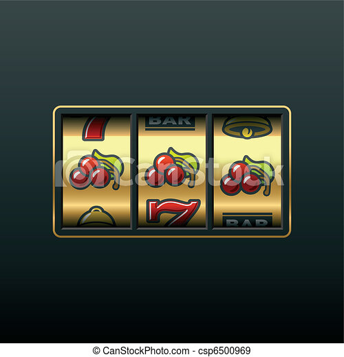 Cherries - winning in slot machine - csp6500969