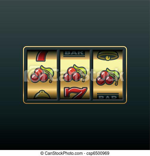Cherries - winning in slot machine - csp6500969