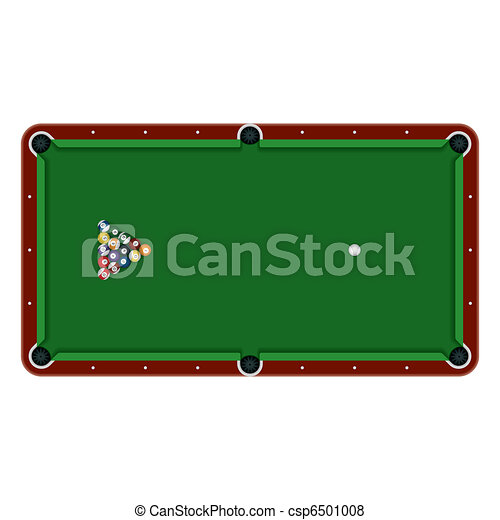 Pool table with balls - csp6501008