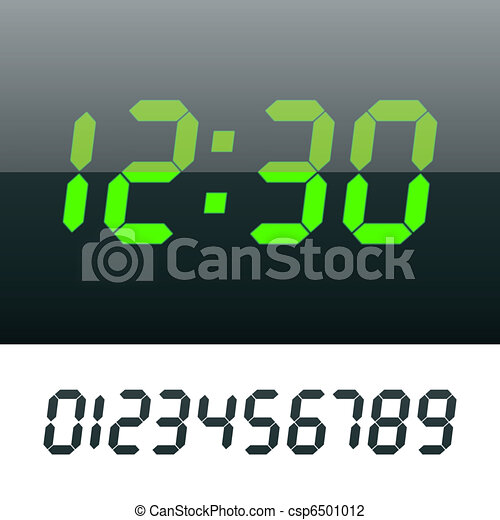 Digital clock - csp6501012