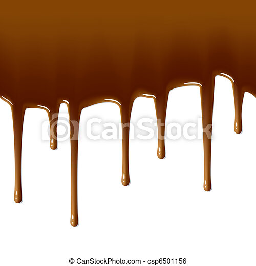 Milk chocolate drips. Seamless. - csp6501156