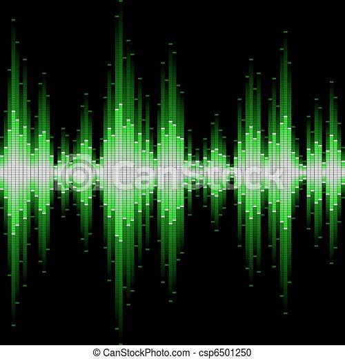 Sound waveform. Seamless vector. - csp6501250