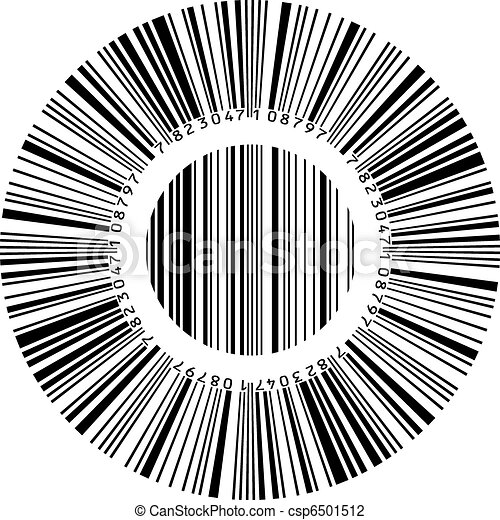 Abstract circular bar code - csp6501512