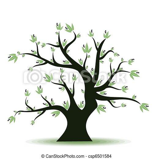 Vettore eps di oliva albero estratto oliva albero su for Albero ulivo vettoriale