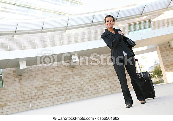 Business Woman Travelling - csp6501682