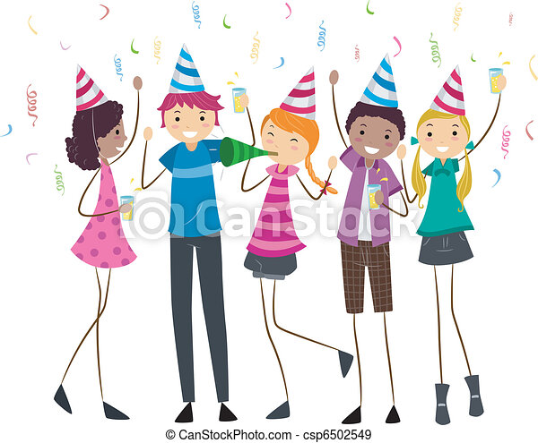 Birthday Party Teens - csp6502549