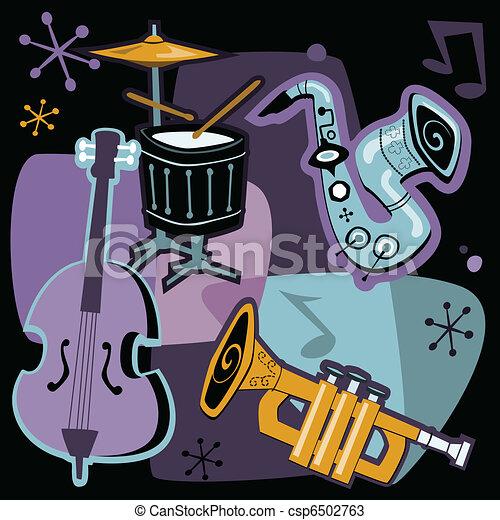 Retro Jazz Instruments - csp6502763