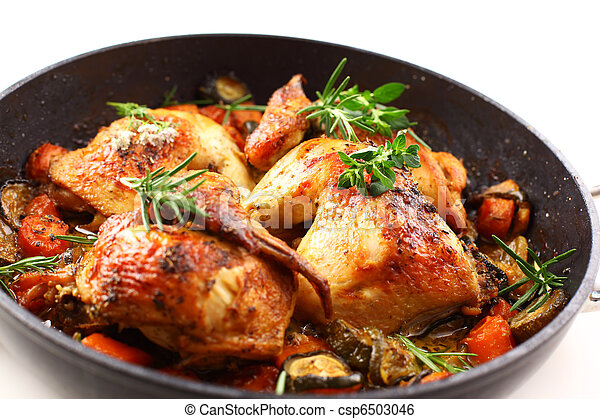 Roasted chicken with vegetable - csp6503046