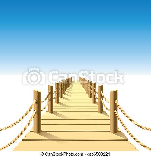 Wooden jetty - csp6503224