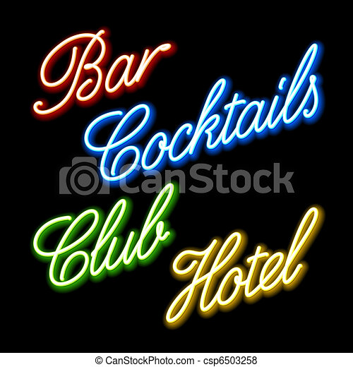 Glowing neon signs - csp6503258