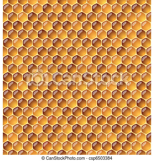 Honeycomb. Seamless illustraion. - csp6503384
