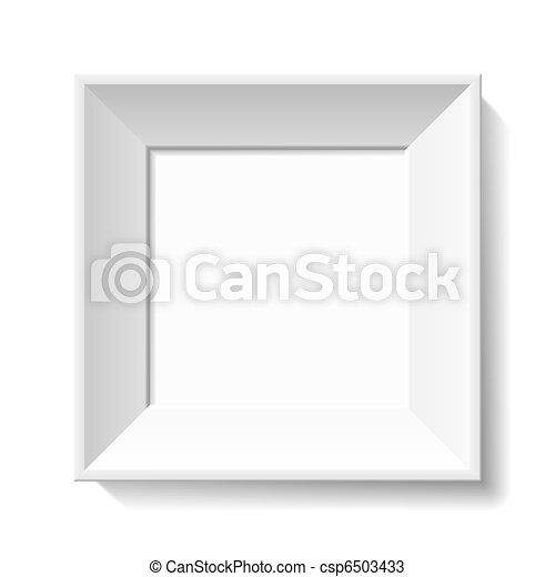 White photo frame - csp6503433