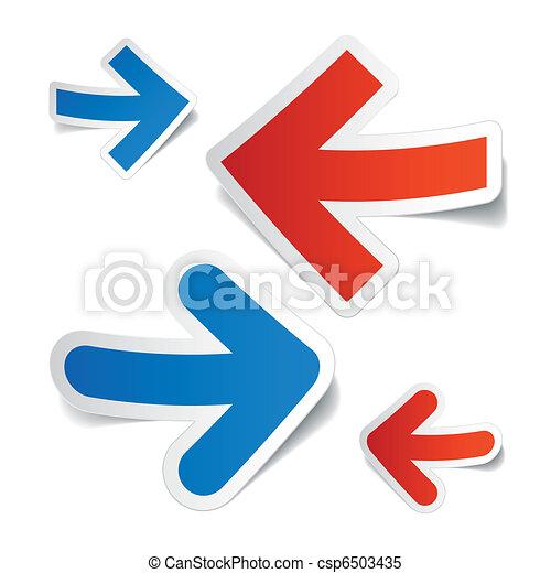 Arrows stickers - csp6503435