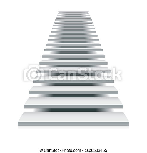 White staircase - csp6503465