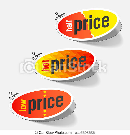 Half, hot and low price labels - csp6503535