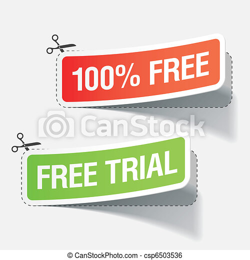 100% free and free trial labels - csp6503536