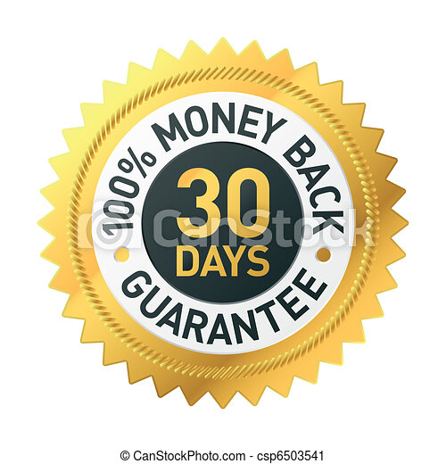 30 days money back guarantee label - csp6503541