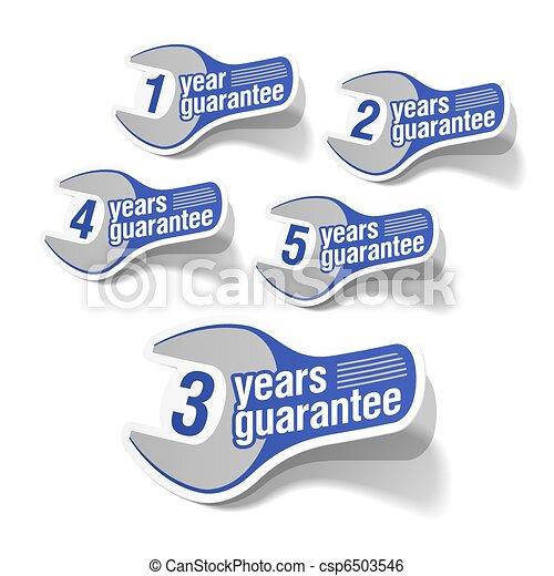 Guarantee labels - csp6503546