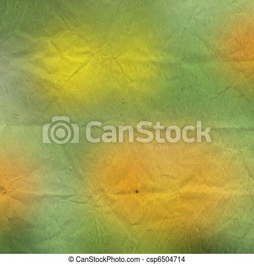Grunge crushed green background. Vintage paper - csp6504714
